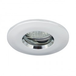 Ansell IP65 50W Fixed GU10/MR16 Chrome Die-Cast Downlight