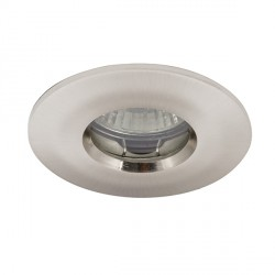 Ansell IP65 50W Fixed GU10/MR16 Satin Chrome Die-Cast Downlight
