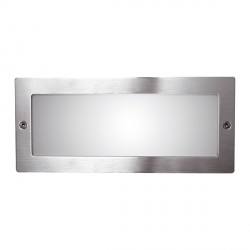 Ansell Inox Stainless Steel Bricklight with Plain Frame