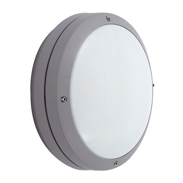 Wall Lights With Emergency : Ansell Canto CFL Silver Grey Wall Light with Emergency Battery Backup at UK Electrical Supplies.