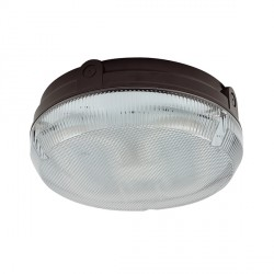 Ansell Delta CFL 28W Black Bulkhead with Prismatic Diffuser and Photocell
