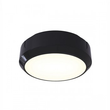 Ansell Delta LED 14W Black Bulkhead with Emergency Backup