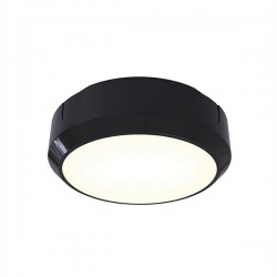 Ansell Delta LED 14W Black Bulkhead with Photocell