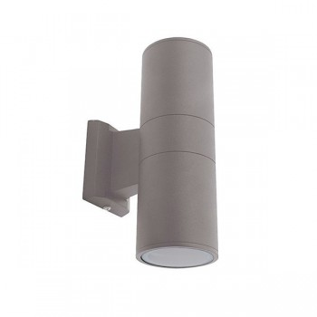 Ansell Duo Midi Silver Grey Wall Light