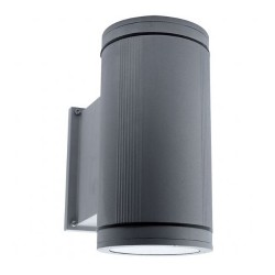 Ansell Duo Maxi Silver Grey Wall Light