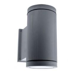 Ansell Duo Maxi Silver Grey Wall Light