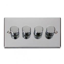 Click Deco Victorian Polished Chrome 4 Gang 400W Dimmer Switch