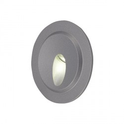 Ansell Edison LED Low Level Wall Light - Silver Grey