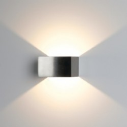 Ansell Facet Warm White LED Wall Light with Satin Chrome Finish