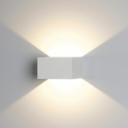Ansell Facet Warm White LED Wall Light with Matt White Finish