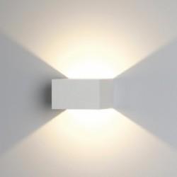 Ansell Facet Warm White LED Wall Light with Matt White Finish