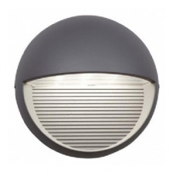 Ansell Kappa LED Silver Grey Wall Light