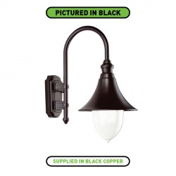 Ansell Lampara Black Copper Wall Lantern