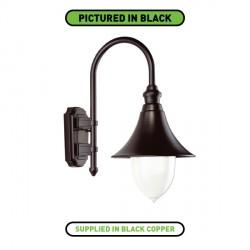 Ansell Lampara Black Copper Wall Lantern