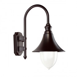 Ansell Lampara Black Wall Lantern
