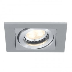 Ansell Lyric 1x50W Adjustable GU10 Brushed Satin Chrome Downlight