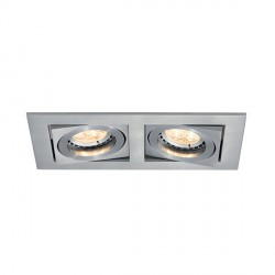 Ansell Lyric 2x50W Adjustable GU10 Brushed Satin Chrome Downlight