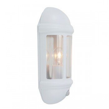 Ansell Latina White Half Lantern with PIR
