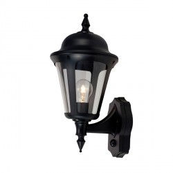 Ansell Latina Black Wall Lantern with PIR