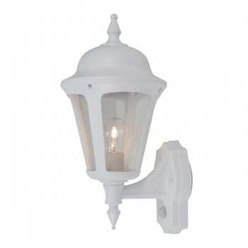 Ansell Latina White Wall Lantern with PIR