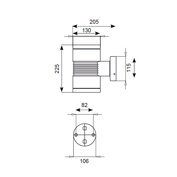 ansell lyra 130 led graphite wall light  12 12 u00b0 beam  at