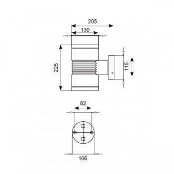 Ansell Lyra 130 LED Graphite Wall Light (40+40° Beam)