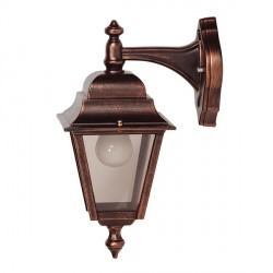 Ansell Nizza Black Copper Wall Lantern (Top Arm)