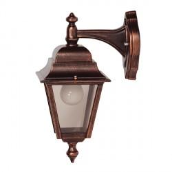 Ansell Nizza Black Copper Wall Lantern (Top Arm)