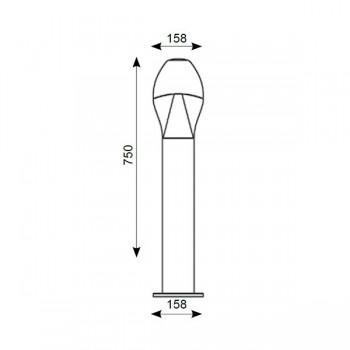 Ansell Neway 10W LED 750mm Bollard, Silver