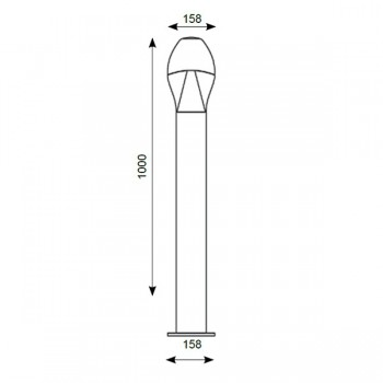 Ansell Neway 10W LED 1000mm Bollard, Silver