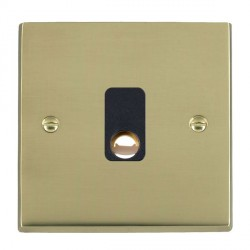 Hamilton Cheriton Victorian Polished Brass 20A Cable Outlet with Black Insert