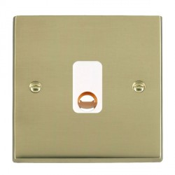 Hamilton Cheriton Victorian Polished Brass 20A Cable Outlet with White Insert
