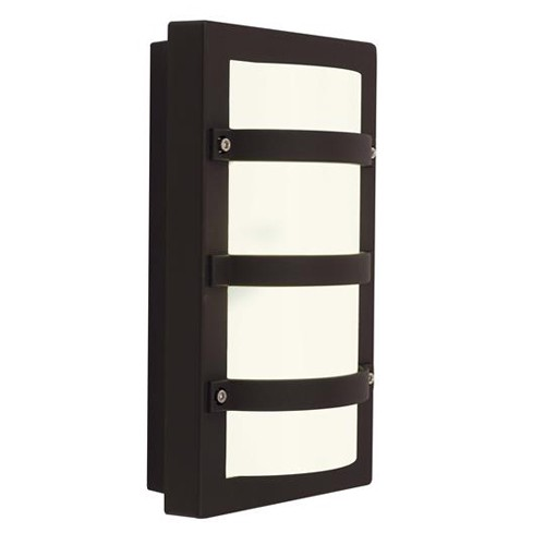 Ansell External Wall Lights : Ansell Quad LED Black Wall Light at UK Electrical Supplies.