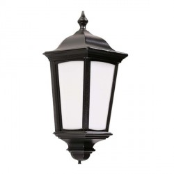 Ansell Roma Black Half Lantern with PIR
