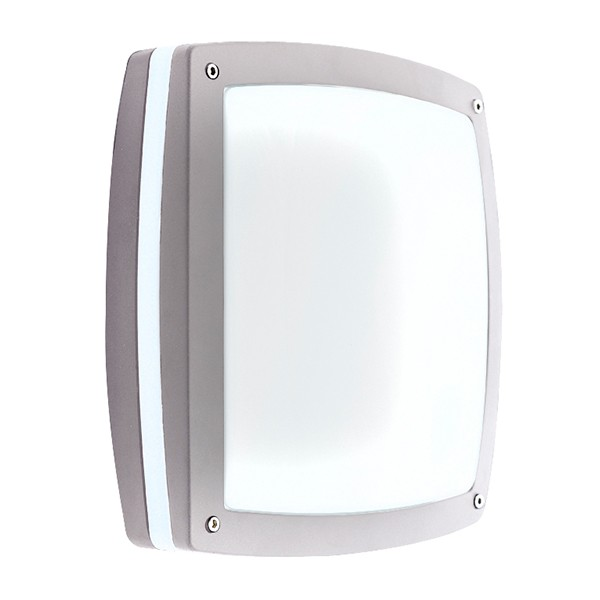 Ansell Sidewalk Silver Grey Wall Light at UK Electrical Supplies.