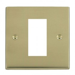 Hamilton Victorian EuroFix Plates Polished Brass Single Plate c/w 1 EuroFix Apertures + Grid