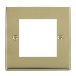 Hamilton Victorian EuroFix Plates Polished Brass Single Plate c/w 2 EuroFix Apertures + Grid