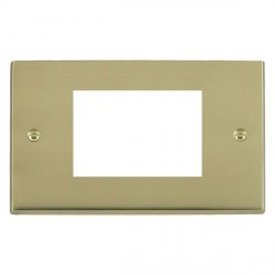 Hamilton Victorian EuroFix Plates Polished Brass Double Plate c/w 3 EuroFix Apertures + Grid