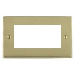 Hamilton Victorian EuroFix Plates Polished Brass Double Plate c/w 4 EuroFix Apertures + Grid