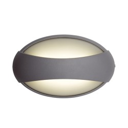 Ansell Vela LED Silver Grey Wall Light