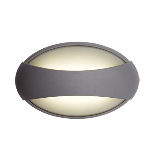 Ansell External Wall Lights : Ansell Vela LED Silver Grey Wall Light at UK Electrical Supplies.