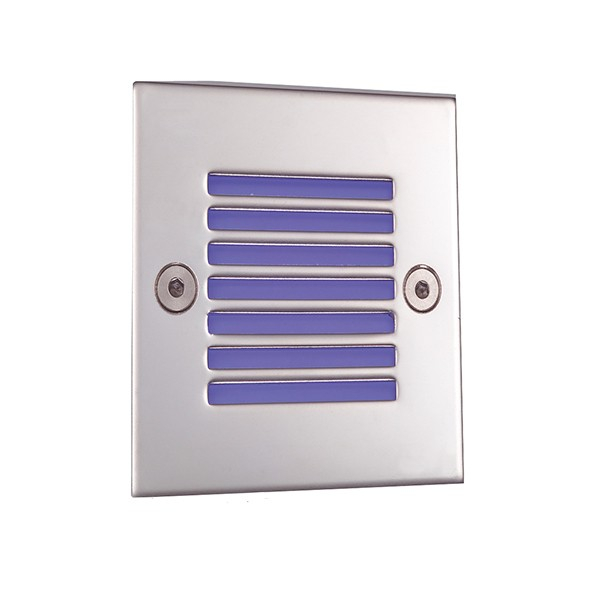Ansell External Wall Lights : Ansell Blue LED Square Recessed Wall Light at UK Electrical Supplies.