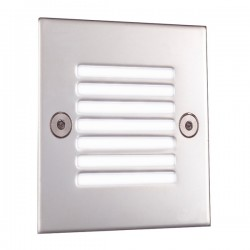Ansell Cool White LED Square Recessed Wall Light