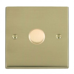 Hamilton Cheriton Victorian Polished Brass Push On/Off Dimmer 1 Gang 2 way 400W with Polished Brass Insert