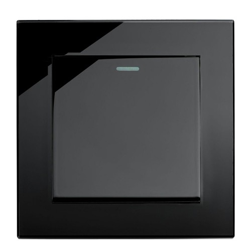 Retrotouch Mechanical Light Switch 1 Gang 2 Ways Black