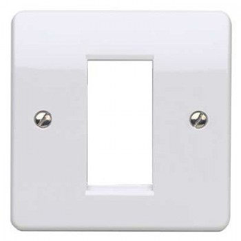 MK Electric Logic Plus™ White 1 Module Euro Plate