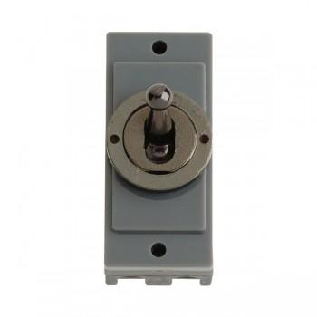 Click Minigrid MD9102BN 10AX 2 Way Toggle Switch Module Black Nickel