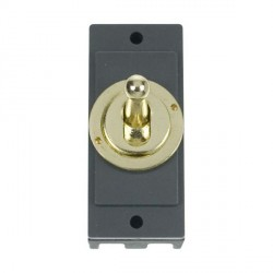 Click Minigrid MD9102BR 10AX 2 Way Toggle Switch Module Brass