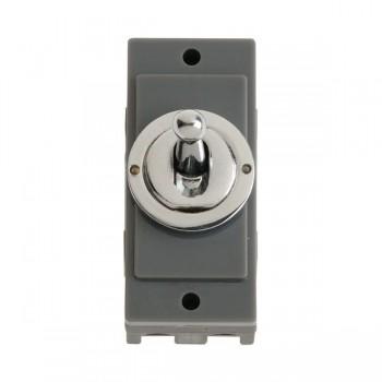 Click Minigrid MD9125CH 10AX Intermediate Toggle Switch Module Chrome
