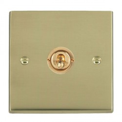 Hamilton Cheriton Victorian Polished Brass 1 Gang Push To Make Retractive Dolly with Polished Brass Insert